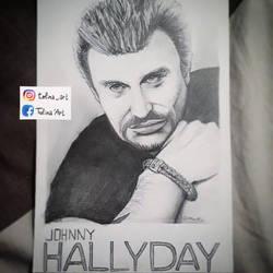 PORTRAIT - Johnny Halliday by Tolina