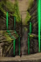 Green waterfalls by legendary-memory