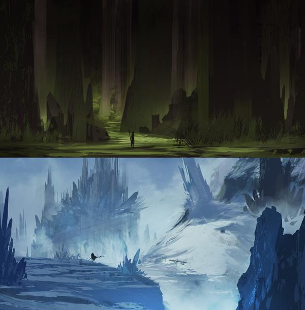 Landscape Designs 02 By Legendary Memory On DeviantArt