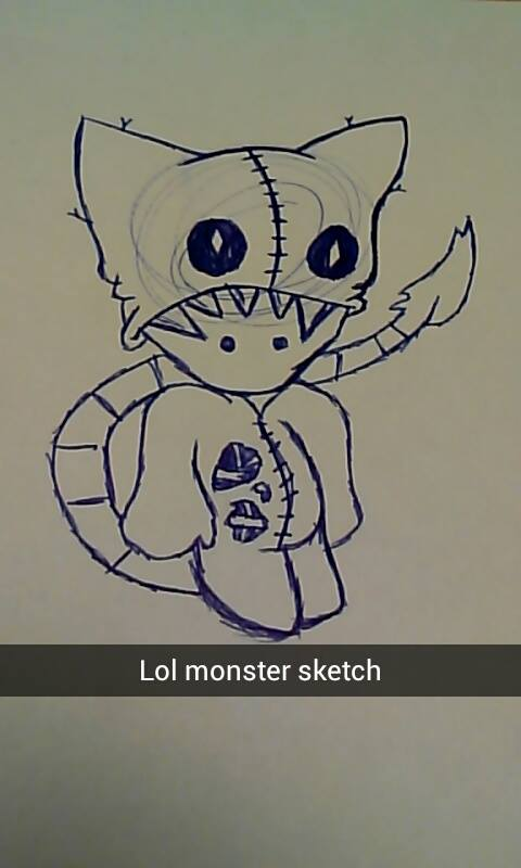 Monster Sketch by KeKitty