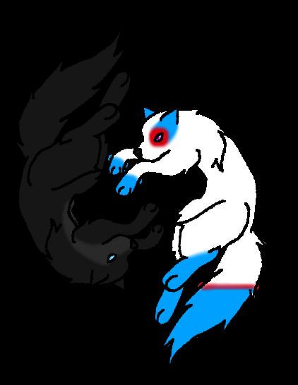 Wolf Yin Yang by KeKitty