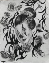 Clown Geisha by theblackalma13