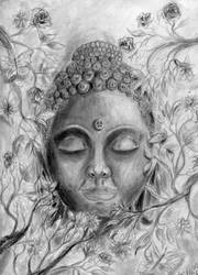 Buddha Face by theblackalma13