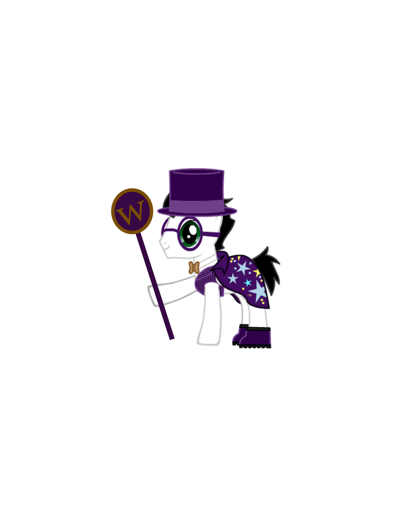 Me Dressed As Willy Wonka by steamdiesel