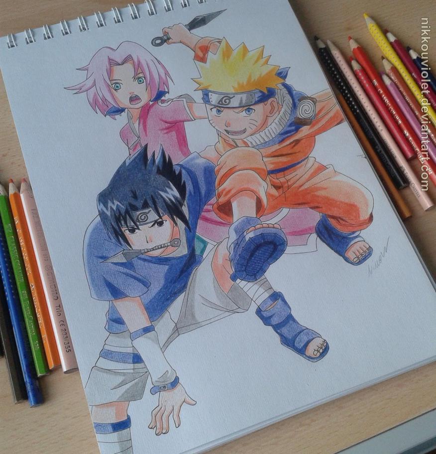 Sasuke Wakes Up By Uendy On Deviantart: Naruto, Sasuke And Sakura By NikkouViolet