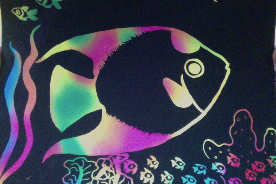 Scratch Art Angelfish By Puffugu