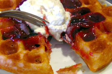 Belgian Waffles at Ruby's