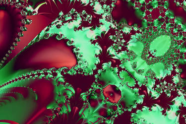 Christmas Fractal by MarjorieB