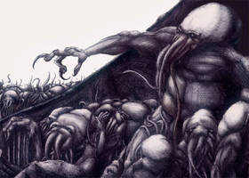 Cthulhu And His Children by LiquidNerve
