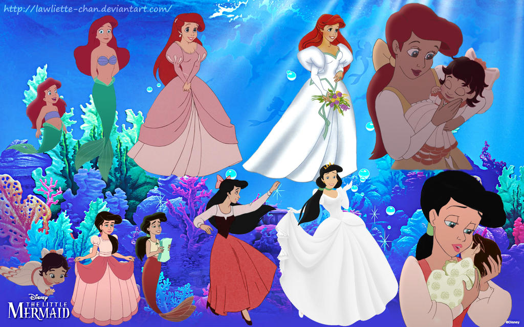 Ariel And Melody Evolution By Lawliette Chan On Deviantart