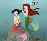 Ariel and Melody by Lawliette-chan