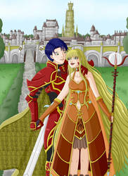 Queen Ariana and Captain of Knights Zelgius ~