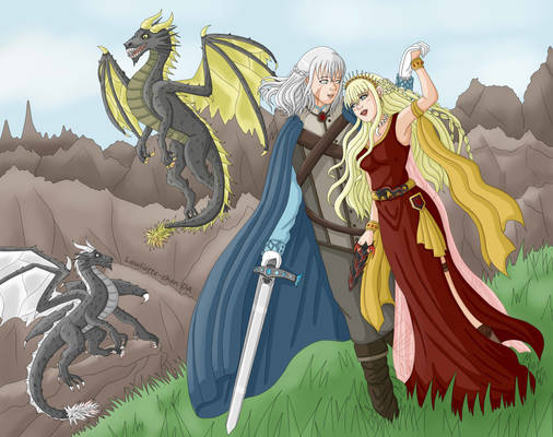 Ariana Targaryen and Silver Targaryen (GOT OC)