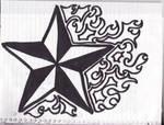Nautical star with flourish1