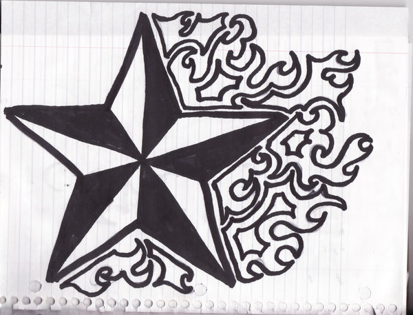 Nautical star coloring pages