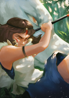 Princess Mononoke - Fan Art by teresaaudrey