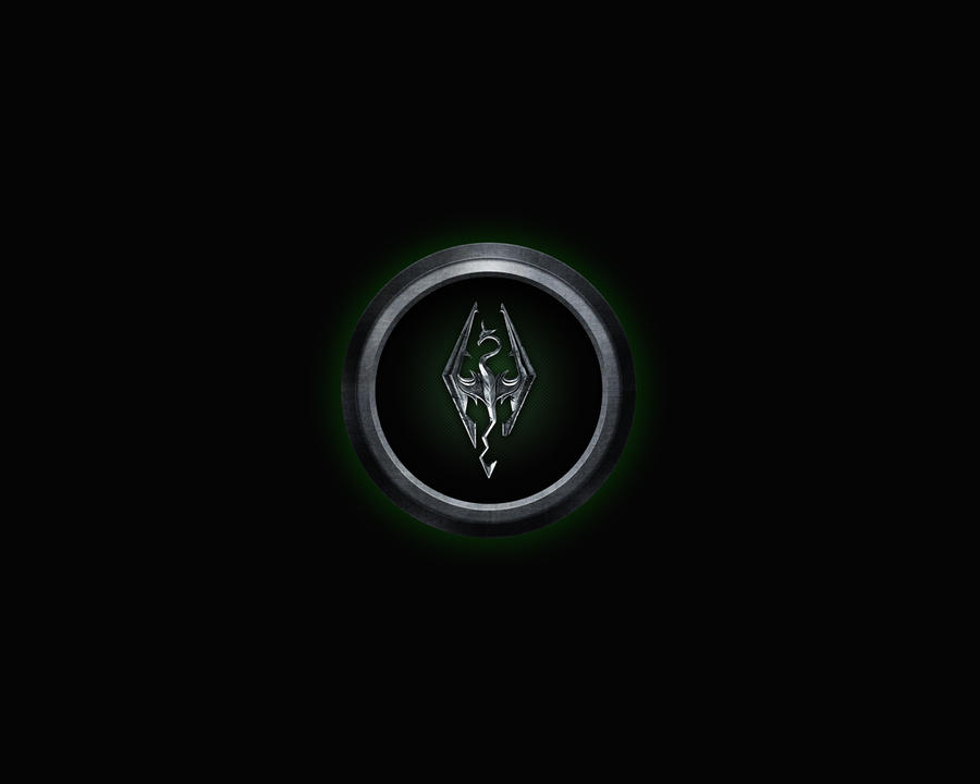 Skyrim Logo Green by Roydz