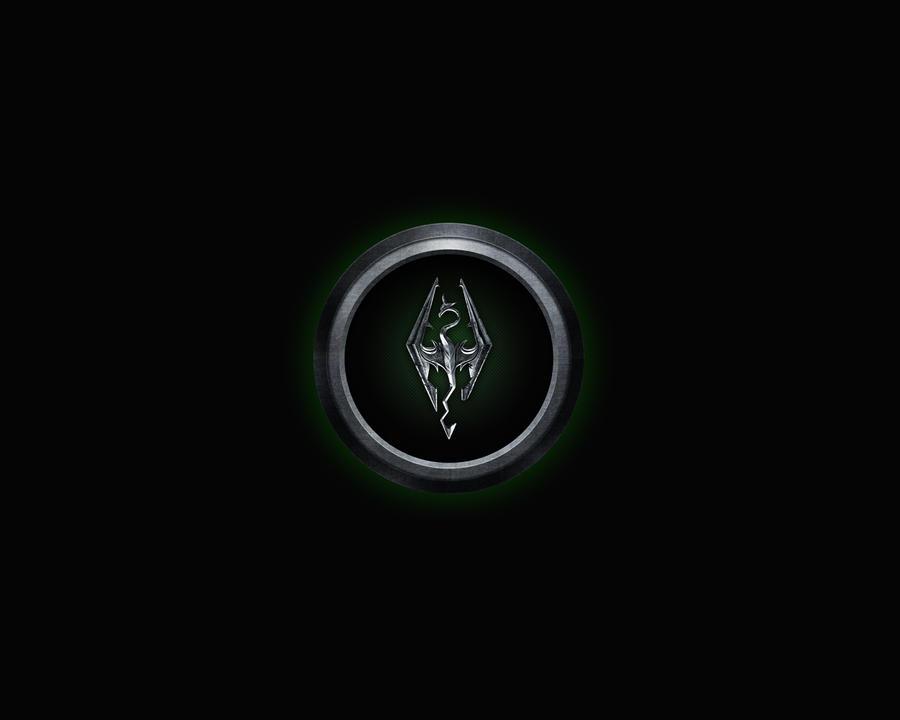 Skyrim Logo Green by Roydz