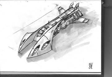 Sceetchbook Space Ship II by PainBrain