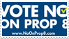 Vote No on Prop 8 stamp
