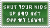 My Lawn stamp by QueenNekoyasha