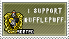 I Support Hufflepuff stamp 2.0 by QueenNekoyasha