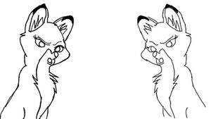 Vixie vs Vixey by renhob27