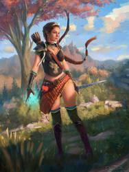 Amara the Elven Warrior