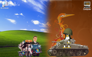 War Zone: Linux VS. Windows by wyatt8740