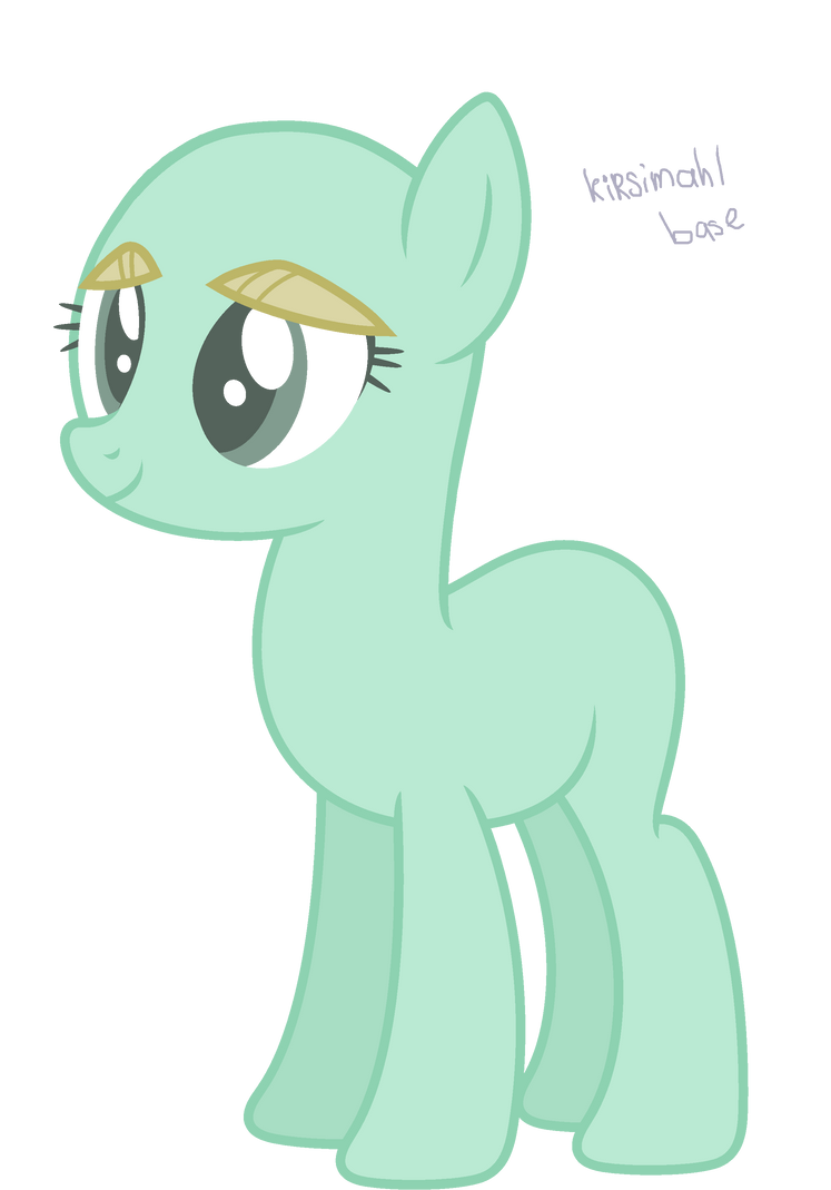 mlp base earth pony by kirsimahlpony on deviantart