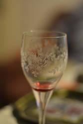 glass of wine by Luczynka