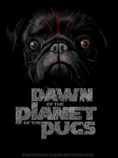 Dawn of the Planet of the Pugs by jimspon