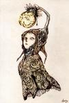The girl Who light Moon
