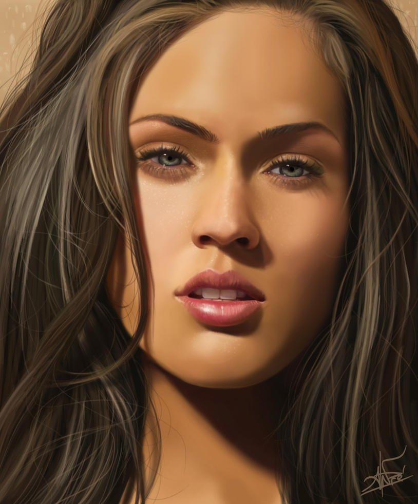 Megan Fox - Digital Painting by DREDS-10