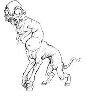 Disturbing Creature :: Doodle by OnyxSerpent