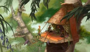 Zikkihuru : Village by OnyxSerpent