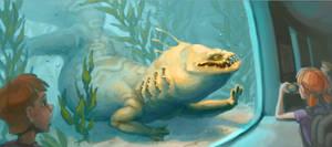 At the Aquarium by OnyxSerpent