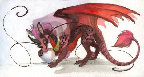 Inktober #31 - Ganymede by OnyxSerpent