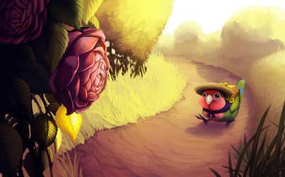 Lovebird Herbalist by OnyxSerpent