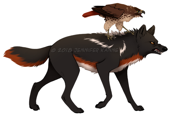 Wolf - Towhee and X ref by OnyxSerpent
