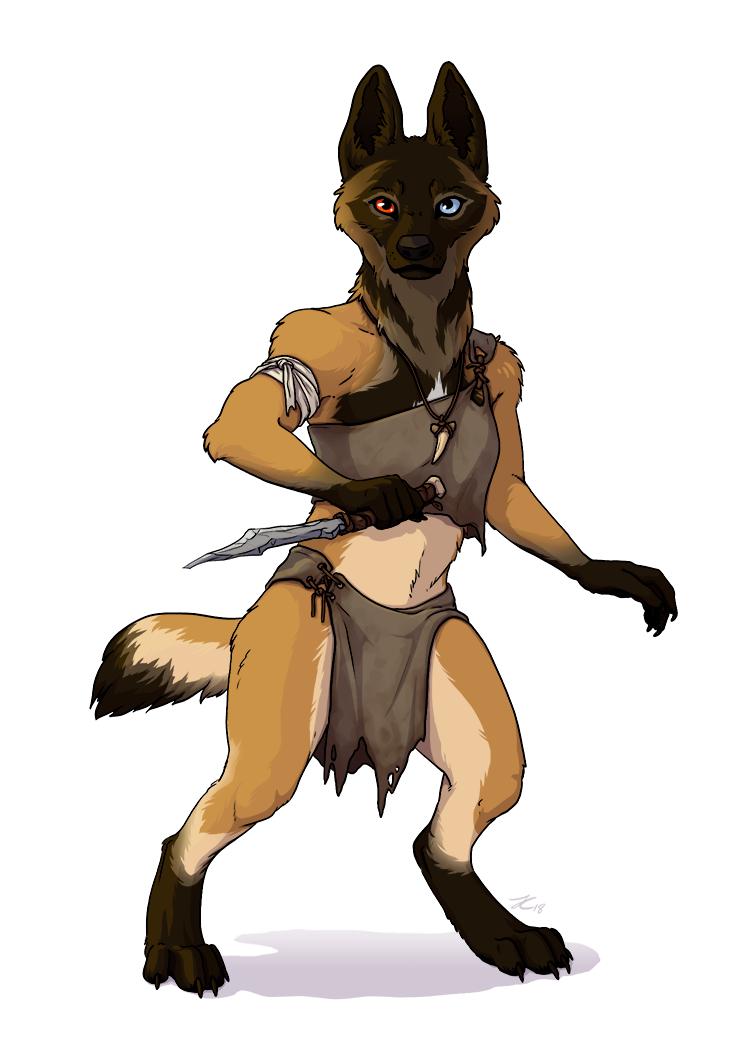 Wolf - Anthro Archetype - Reigi by OnyxSerpent
