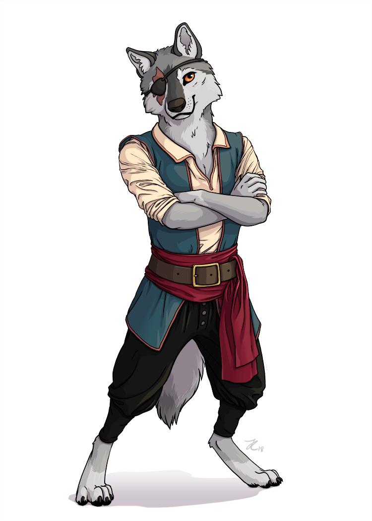 Wolf - Anthro Archetype - Screech by OnyxSerpent