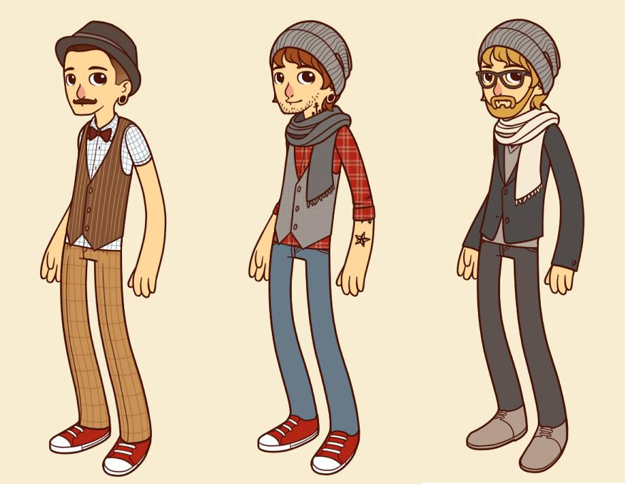Hipster Boy Tumblr Drawing