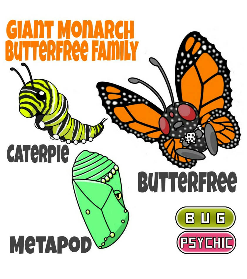 Butterfree Family by ajkent14z