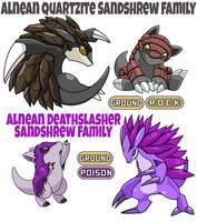 Sandshrew Family by ajkent14z