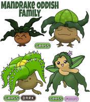 Oddish Family by ajkent14z