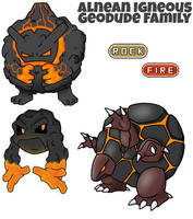Geodude Family by ajkent14z