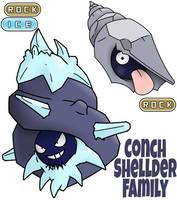 Shellder Family by ajkent14z