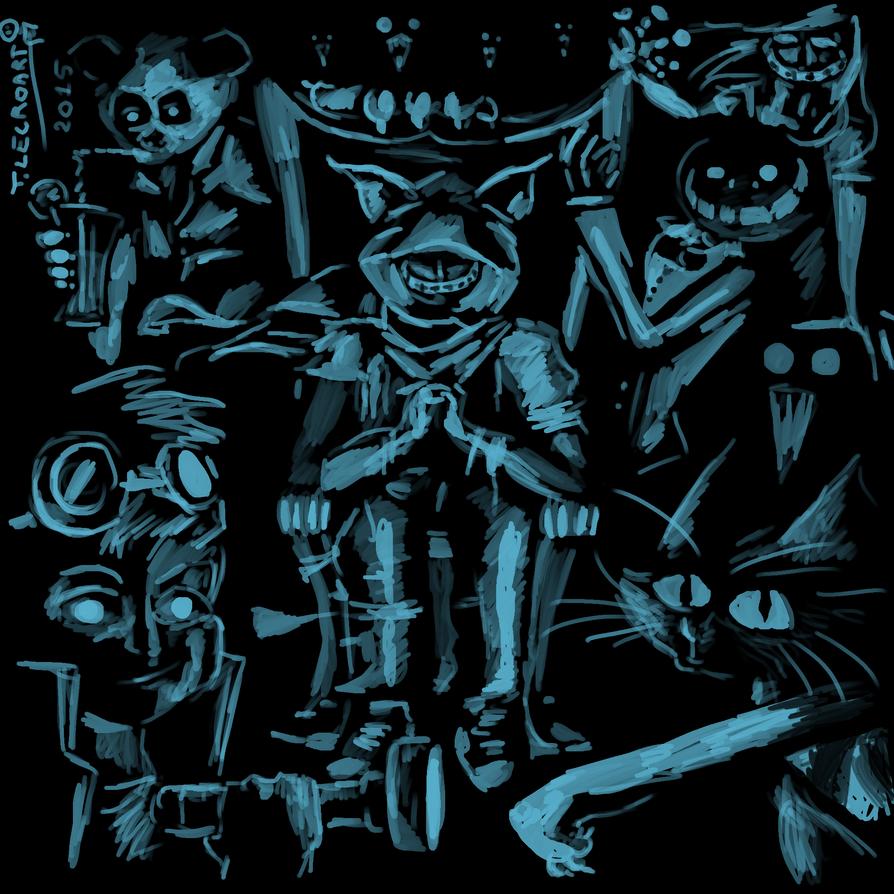 Dessin bleu sur fond noir by pandasolitaire on deviantart - Dessin fond noir ...