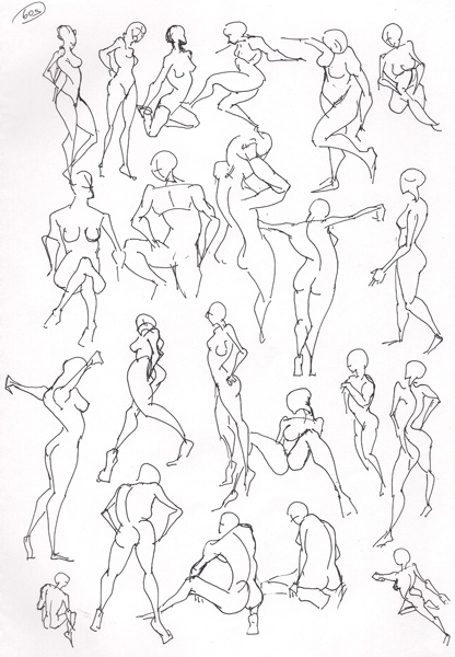 "Spartan Camp #155 - 50 gestures + Optional ""Free Choice Anatomy Study"""